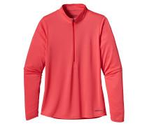 Fore Runner Zip Neck - Langarmshirt für Damen - Pink