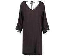 Lace Sleeve Beach - Kleid für Damen - Schwarz