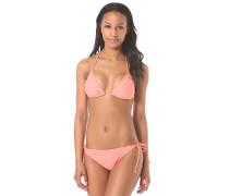 Tiki Triangle Tie Side - Bikini Set für Damen - Pink