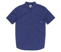 Greene Poplin S/S - Hemd - Blau