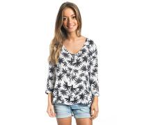 Oasis Palm - Langarmshirt für Damen - Weiß