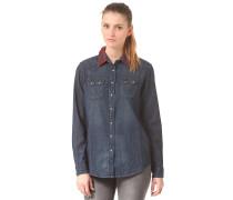 Regular Western - Hemd für Damen - Blau