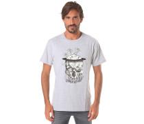 Palm Tree Skull - T-Shirt für Herren - Grau
