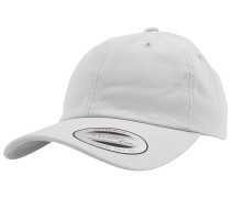 Low Profile Cotton Twill Snapback Cap - Weiß