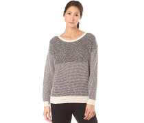 Block Biquet Knit - Strickpullover für Damen - Grau