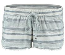 Jacquard Lace Detail - Shorts für Damen - Weiß