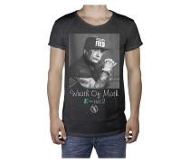 Einstein R-Neck Long Back - T-Shirt für Herren - Schwarz
