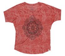 Flower Line - T-Shirt für Damen - Rot