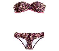 Reversible Bandeau Set - Bikini Set für Damen - Mehrfarbig