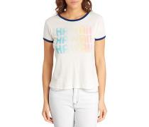Contrast Ringer - T-Shirt für Damen - Weiß