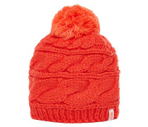 Triple Cable - Mütze für Damen - Rot