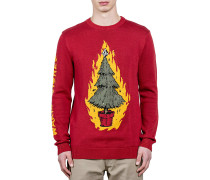 Warm Wishes - Strickpullover für Herren - Rot