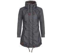 Zebratwist - Mantel für Damen - Blau