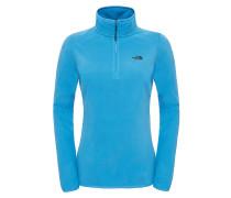 100 Glacier 1/4 Zip - Sweatshirt für Damen - Blau