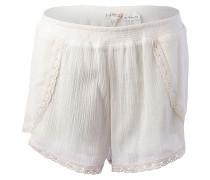 Hidden Bloom - Shorts für Damen - Weiß