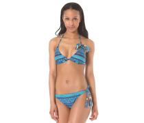 Fixed Triangle Tie Side - Bikini Set für Damen - Blau
