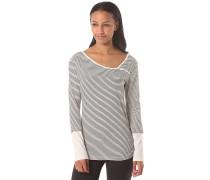 Asym Stripe 2 - Langarmshirt für Damen - Weiß