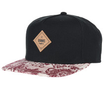 5P SB Crazy Pattern Feather Snapback Cap - Schwarz