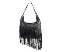 Fringe Benefit Hobo - Handtasche für Damen - Schwarz