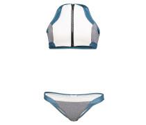First Base Crop - Bikini Set für Damen - Blau