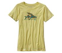 Isle Wild Flying Fish Cotton Crew - T-Shirt für Damen - Gelb