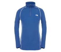 Warm Zip Neck - Funktionsunterwäsche für Damen - Blau