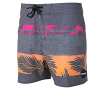 "Retro Palm Tree 16"" - Boardshorts - Schwarz"