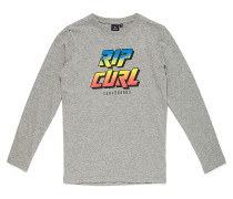 Fluo Slant - Langarmshirt für Jungs - Grau