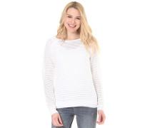 Knitted Mesh Crew - Strickpullover für Damen - Weiß