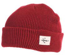 TurnUp Waffle Knit II Mütze - Rot