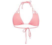 Solid Strap Triangle - Bikini Oberteil für Damen - Pink