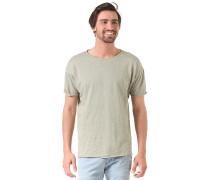 Slub Raw HemT-Shirt Grün
