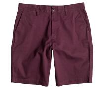 Worker Straight 20,5 - Chino Shorts für Herren - Rot