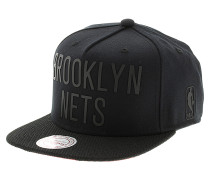 Rubber Wordmark Brooklyn NetsSnapback Cap Schwarz