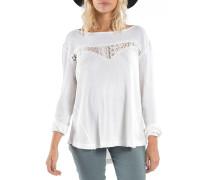 To Be Free - Langarmshirt für Damen - Weiß