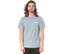 College Script - T-Shirt - Blau