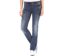 Midge Saddle Mid Straight Yzzi Stretch - Jeans für Damen - Blau