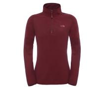 100 Glacier 1/4 Zip - Sweatshirt für Damen - Rot