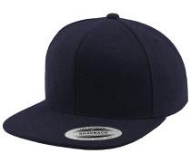 Melton Wool Snapback Cap - Blau