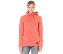 Hoody Fleece - Kapuzenjacke für Damen - Orange
