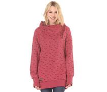 Beat Print Organic - Kapuzenpullover für Damen - Rot