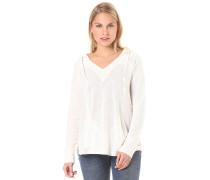 Wasted Time - Kapuzenpullover für Damen - Weiß