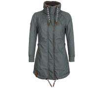 Zebratwist - Mantel für Damen - Grün