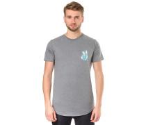 Peeace Scallop - T-Shirt - Grau
