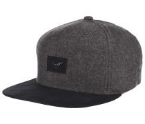 Suede 6-Panel Snapback Cap - Braun