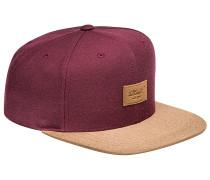 Suede 6-Panel Snapback Cap - Rot