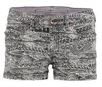 Island Print - Shorts für Damen - Schwarz