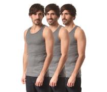 Proof 3 Pack - Unterhemd für Herren - Grau
