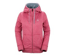 Stone Dot Fleece - Kapuzenjacke für Damen - Rot