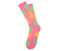 Neon Plantlife Crew - Socken für Herren - Pink